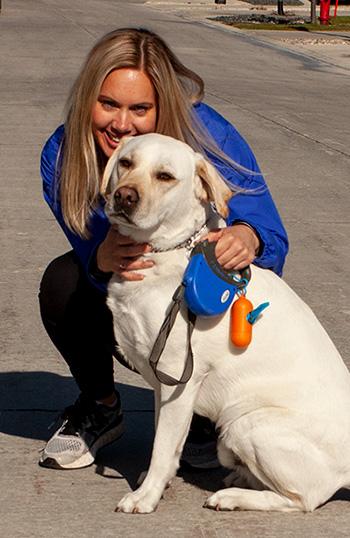 Sandi and dog
